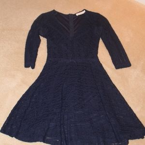 Adorable LUSH Lace Dress in Navy